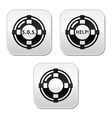 Life belt help sos buttons set vector