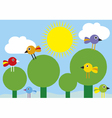 Birds in the trees vector