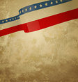 Grunge style american background vector