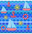 Baby seamless sea pattern vector