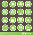 Eco friendly icons set go green vector