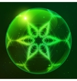 Green shining techno sphere vector