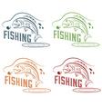 Fishing design template vector