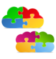 Puzzle clouds vector