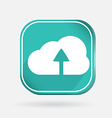 Color icon with shadow cloud download vector