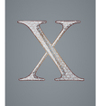 Abstract letter x vector