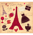 Paris postcard vector