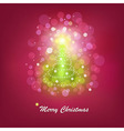 Christmas bright tree vector