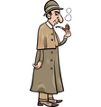 Retro detective cartoon vector
