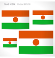Niger flag template vector