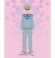 Hipster boy vector