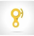 Yellow descender device flat icon vector