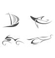 Organic style symbols vector