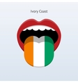 Ivory coast language abstract human tongue vector