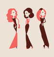 Fashion woman collection vector