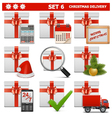 Christmas delivery set 6 vector