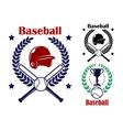Three baseball emblems or badges vector