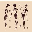 Figures of african dancers hand drawn vector