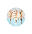 Cyclist riding bicycle cycling circle woodcut vector