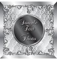 Wedding silver background vector