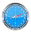 Blue compass vector