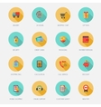 Shopping e-commerce icons flat vector