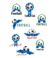 Large set of football emblems vector