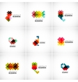 Company logo branding elements vector
