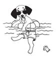 Cartoon comic of dog vector