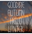 Blurred photographic background and text vector
