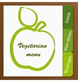 Template of a vegetarian menu vector