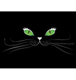Cartoon cat face in black vector