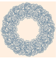 Peonies frame garland vector