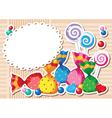 Candy sticker background vector