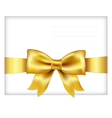 Envelope face with golden bow vector