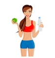 Healthy lifestyle fitness girl vector