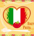 Pasta pattern - vintage style vector