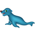 Cute seal cartoon vector
