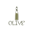Bottle of olive oil design template vector