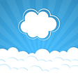 Abstract background with rays and clouds vector