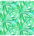 Seamless pattern with tropical palm leaves vector
