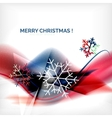 Red christmas blurred waves and snowflakes vector