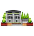 A big grey house vector