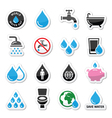 World water day icons - ecology green concept vector