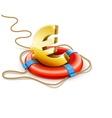 Life buoy rescue ring helps vector