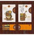 Corporate identity menu cup of coffee vector