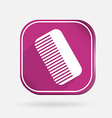 Comb barbershop color square icon vector