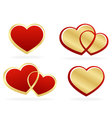 Set of stylized hearts vector