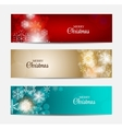 Christmas snowflakes website header and banner set vector