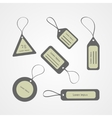 Retro style tags collection vector